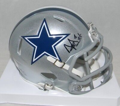 Dak Prescott Signed Autographed Dallas Cowboys Silver Speed Mini Helmet Jsa