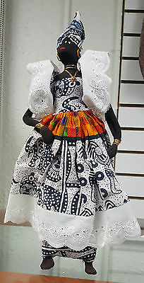 Senegalese African Woman Doll/African Clothes/Black Americana Figurine/Kwanzaa