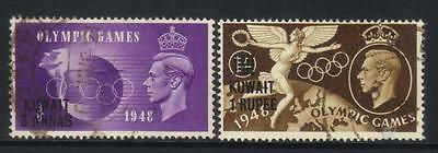 Kuwait 1948 Olympic Games Sg77/79 Used Cat £9+