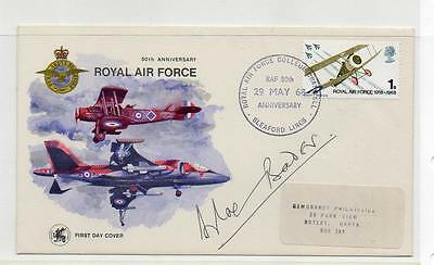 Gb Fdc 1968 Royal Air Force 1/- Sleaford Cancel. Douglas Bader Signed