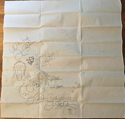 Signed David Beckham Doodled Table Cloth Manchester United England Football