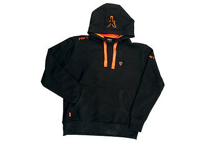 Fox NEW Version Black And Orange Fishing Hoody *All Sizes*