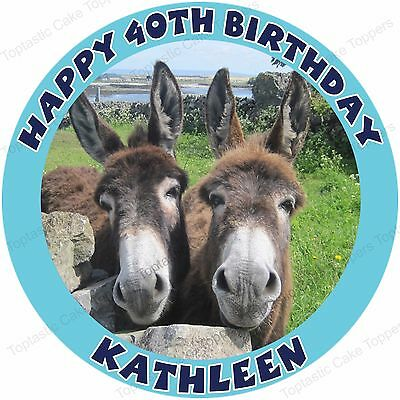 Personalised Donkies Donkey Edible Icing Birthday Party Cake Topper