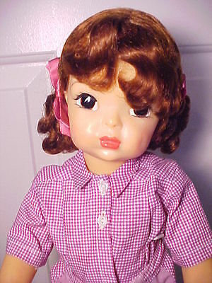 """Vintage 1950s Auburn 16"""" TERRI LEE DOLL in Complete VIntage Shorts Outfit"""