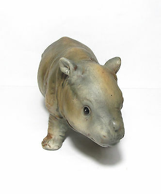 Terrific Rhinoceros Baby Rhino Detailed Porcelain Figure Figurine