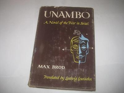 UNAMBO A novel of the war in Israel by Max Brod