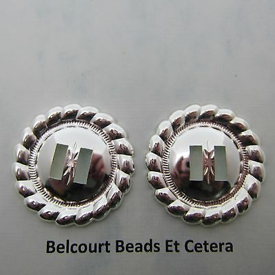 4 Silver Round 1.5 Inch Concho Slides