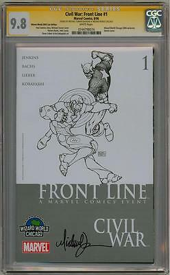 Civil War Front Line #1 Wwc Cgc 9.8 Signature Series Signed Michael Turner Movie