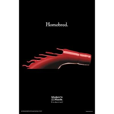 "Makers Mark ""Homebred"" poster 24 by 36 inch new"