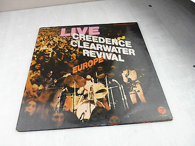 Ancien disque / vinyle, 33 t, Creedence Clearwater Revival Live Europe