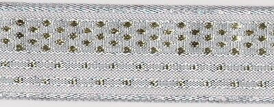 36mm Silver / Gold Wire Edged Ribbon (x 2.2 metres)