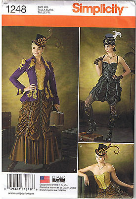Victorian Steampunk Jacket Bustier Skirt Costume Sewing Pattern 14 16 18 20 22