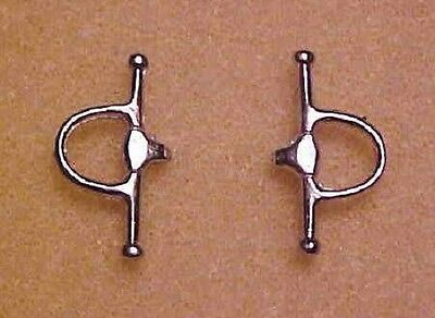 TWMHC 1:9 Traditional Model Horse Scale FULL CHEEK SNAFFLE BIT in Pewter