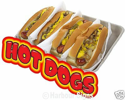 "Hot Dogs Hotdogs Decal 14"" Concession Restaurant Food Truck Vinyl Menu Sticker"