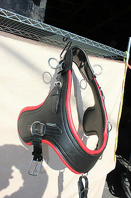 Brand new horse size horse drawn Comfy Fit Euro Brollar collar RED accents