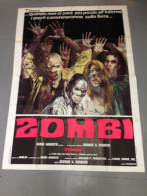 Dawn Of The Dead-Zombi-Italian Six Sheet Movie Poster 8.5 - Two Section Poster