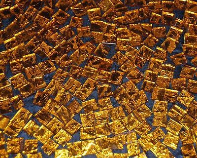 "100 1/2"" Amber Bronze Vangogh Stained Glass Mosaic Tiles"