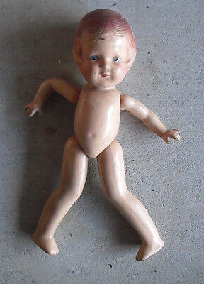 """Vintage 1930s Arranbee Jointed Composition Girl Character Doll 12"""" Tall"""
