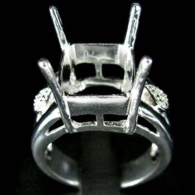Ring Setting Sterling Silver Octagon 10x11mm.#7