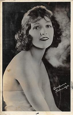 CONSTANCE TALMADGE vintage sexy busty risque 20s real photo pinup postcard