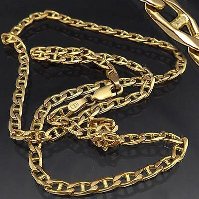 Strong Italian Unisex Anchor Link 9K Solid Yellow GOLD NECKLACE Chain  475mm