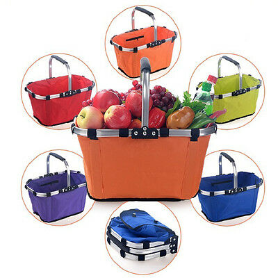 Folding Collapsible Portable Market Shopping Tote Outdoor Picnic Basket Holder