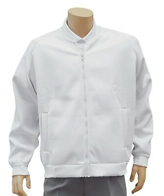 CATHEDRAL Polyester Cotton Teflon Coated Showerproof Half Zip White Top Small