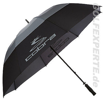 Cobra Golf Tour Storm Perform Double Canopy 68 Inch Umbrella Regenschirm Schwarz