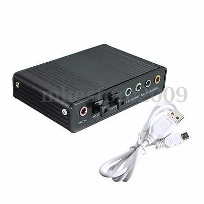 USB External S/PDIF Optical DAC Audio Sound Card 5.1 Channel Cable For PC Laptop