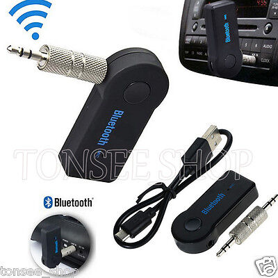 Bluetooth Music Audio Stereo Adapter Receiver For Car AUX Home Speaker Mic MP3