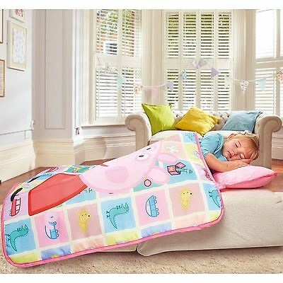 Peppa Pig Cosy Wrap Nap Bed Pink Childrens Ready Bed With Pillow And Cover