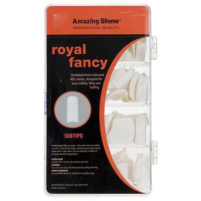 Amazing Shine Royal Fantaisie 500 Bouts Faux Ongles - French Manucure Blanc