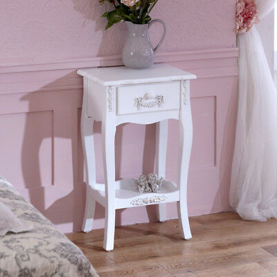 Furniture bundle pair 1 drawer bedside lamp table shabby french chic bedroom