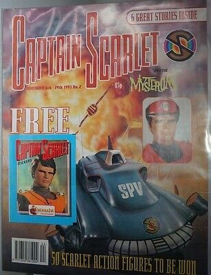 Captain Scarlet - The Comic. No 2. November 1993. ITC. With Stickers