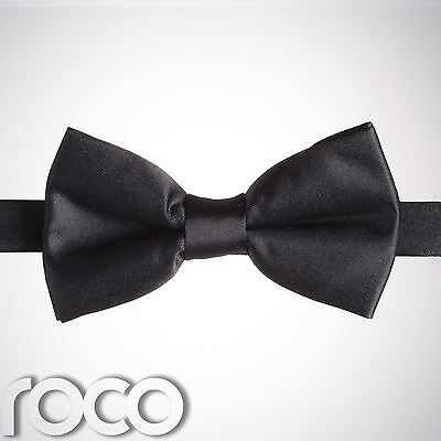 Boys Black Banded Dickie Bow Tie Wedding Prom Page Boy Dickie Bows