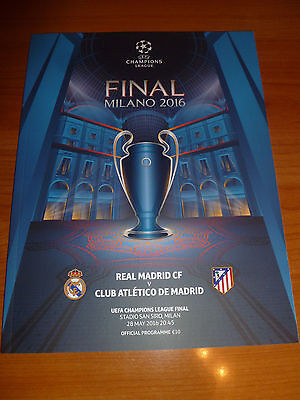 official programme CL FINAL 2016 Real Madrid - Atletico Madrid