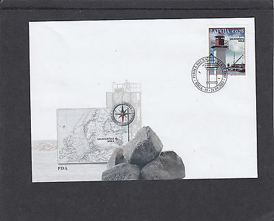 Latvia 2015 Lighthouses First Day Cover FDC
