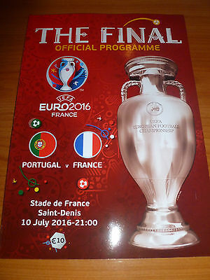 official programme FINAL France - Portugal Euro 2016 , engl. edition