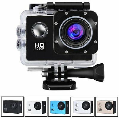 Action Cam HD DV 1080P Wasserdicht Sport Video Helm Unterwasser Kamera Camcorder