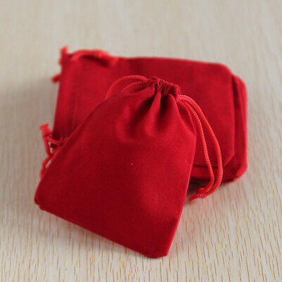 Wholesale 75pcs Velvet Jewellery Wedding Gift Bag Pouches Organizer Storage Red