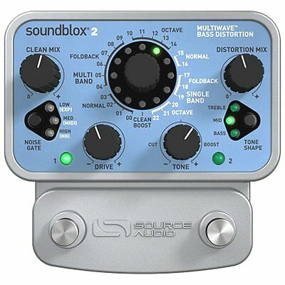 Source Audio SA221 Soundblox 2 Multiwave Bass Distortion 23 Effects pedal