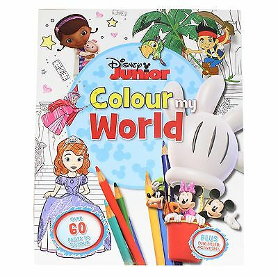 Disney Junior Color Mi Mundo Para Colorear / Libro De Actividades En Rústica
