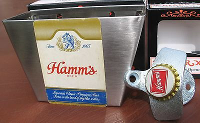 Vintage Hamms Beer Card / Cap Catcher & Custom Bottle Opener  Sports Bar NIB