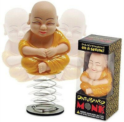 Dashboard Monk Bobble Head String Car Dash Adhesive Asian Buddhism Oriental