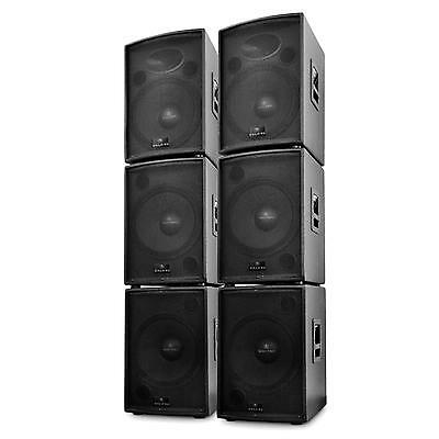 EQUIPO SONIDO PA DJ TOTAL 6 BAFLES 2x ALTAVOCES 4x SUBWOOFER AUDIO 10000W DISCO