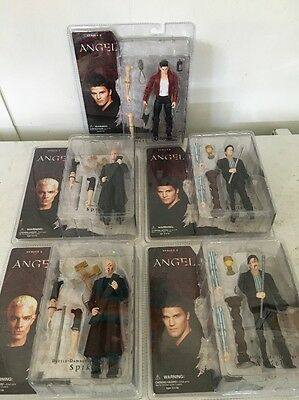 Lot of 5 Angel Series 2 Action Figures - Spike Angel - Buffy the Vampire Slayer