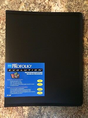 Itoya Evolution Portfolio book bound album, photos up to 8x10, black