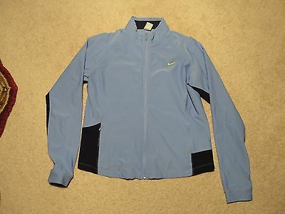 XL 16/18 Women NIKE FIT DRY ZIP Stretch Athletic TRACK JACKET PERWINKLE BLUE