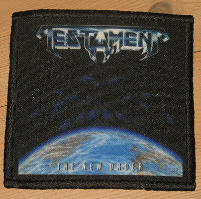 """TESTAMENT """"THE NEW ORDER"""" silk screen PATCH"""