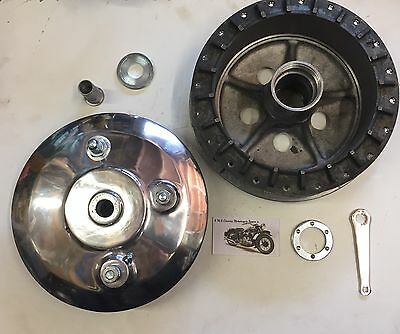 BSA GOLDSTAR 190mm HUB,BRAKE PLATE,SHOES RGS A10 A65 SPITFIRE CAFE RACER ROCKET